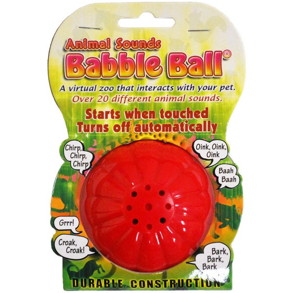 Large Animal Sounds Babble Ball-Yellow