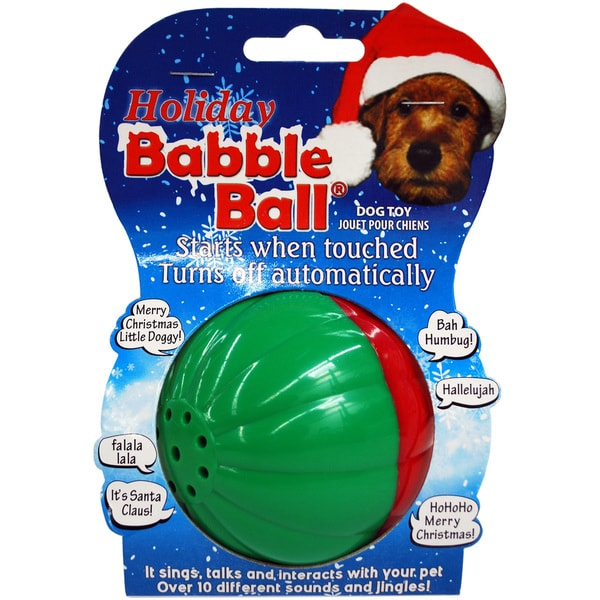 Large Holiday Sounds Babble Ball-Red & Green