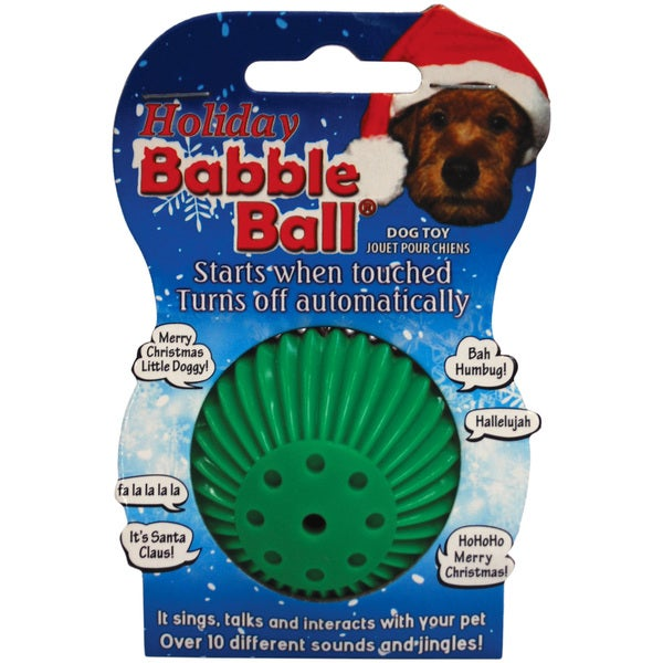 Small Holiday Sounds Babble Ball-Red & Green