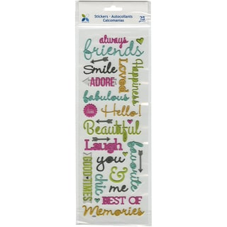 Momenta Puffy Stickers-Friendship