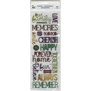 Momenta Puffy Stickers-Family