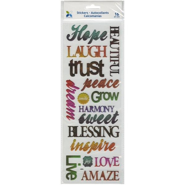Momenta Puffy Stickers-Faith