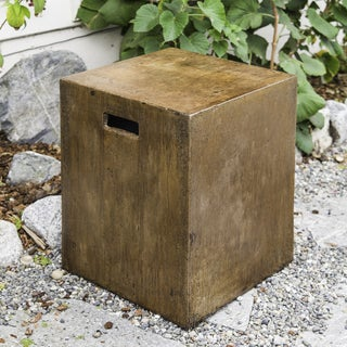 Repose Eco-concrete Rustic Acid Washed Oblong Stool (Indonesia)