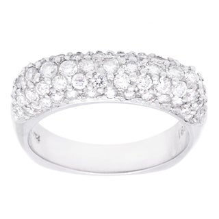 18k White Gold 1 1/4ct TDW Pave Diamond Band (G-H, VS2-SI1)