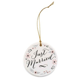 Just Married White Ornament