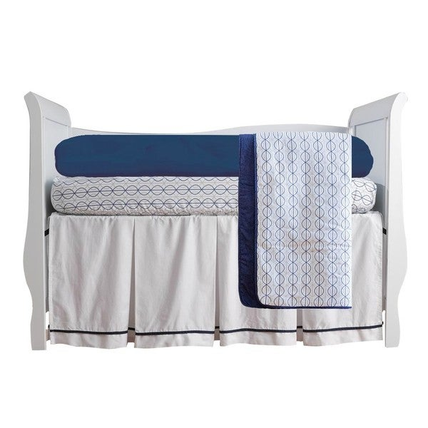 Summer Infant Nautical Navy 4-piece Crib Bedding Set