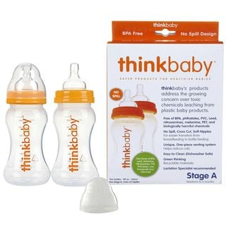 Thinkbaby Twin Pack 9-ounce Bottle