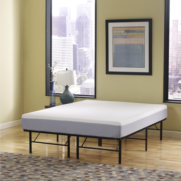 Sleep Sync 6-inch Full-size Memory Foam Mattress and Posture Support Platform Frame Set