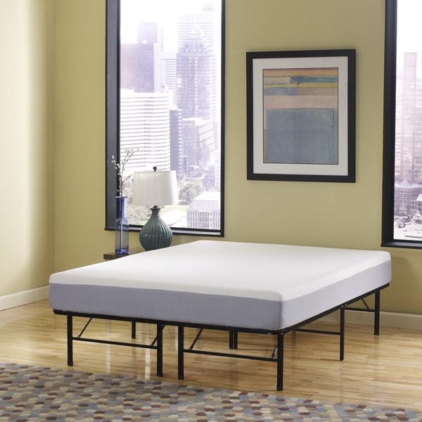 Sleep Sync 6-inch Twin-size Memory Foam Mattress and Posture Support Platform Frame Set