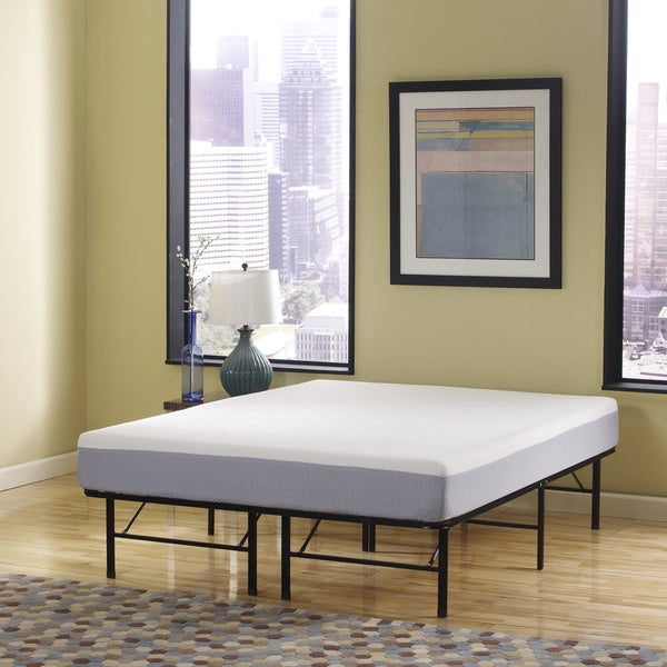 Sleep Sync 6-inch Queen-size Memory Foam Mattress and Posture Support Platform Frame Set