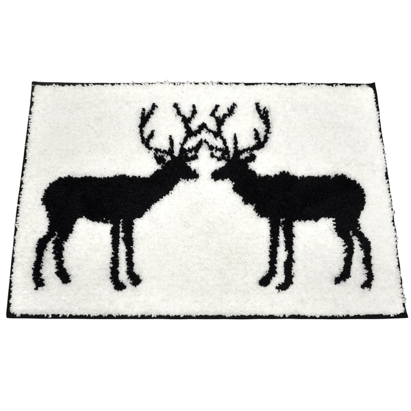 Stag Black/ White Bath Rug (20 x 30) 14450446