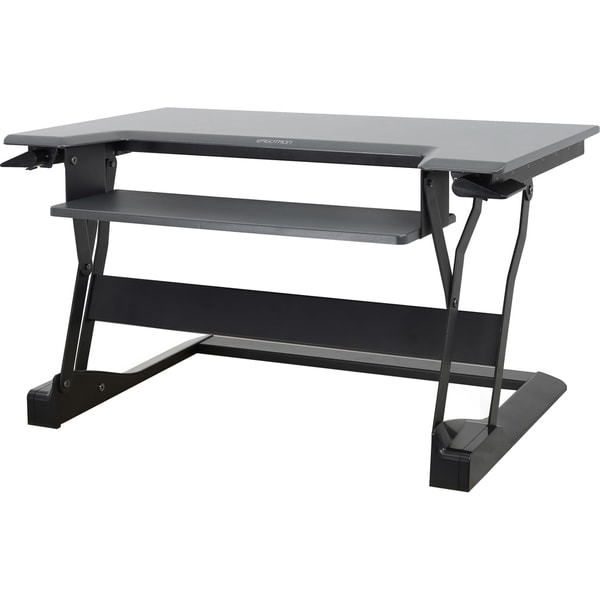 Ergotron WorkFit-T, Sit-Stand Desktop Workstation (Black)