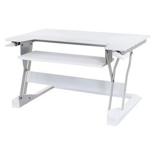 Ergotron WorkFit-T, Sit-Stand Desktop Workstation (White)