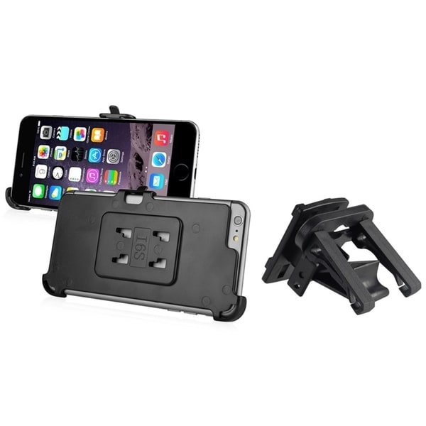 INSTEN Black Car Air Vent Phone Holder Mount With Phone Holder Plate For Apple iPhone 6 Plus/ iPhone 6+ 5.5-inch