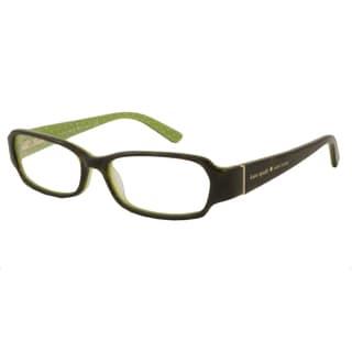 Kate Spade Women's Brown Gene Rectangular Reading Glasses