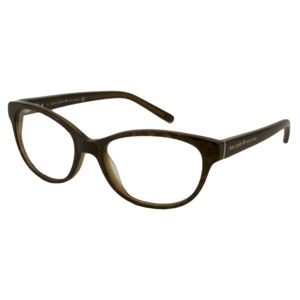 Kate Spade Women's Purdy Brown Tortoise Oval Reading Glasses