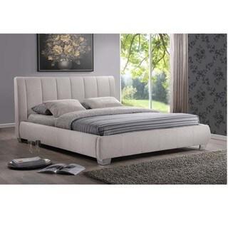 Baxton Studio Olson Modern Light Beige Queen Size Platform Bed