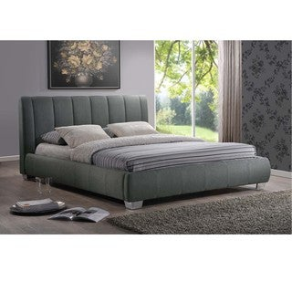 Baxton Studio Olson Modern Grey Queen Size Platform Bed