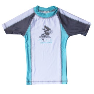 Azul Swimwear Short Sleeve Aqua Combination Rash Guard