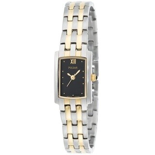 Pulsar Women's PC3230 Stainless Steel and Yellow Goldplated Watch