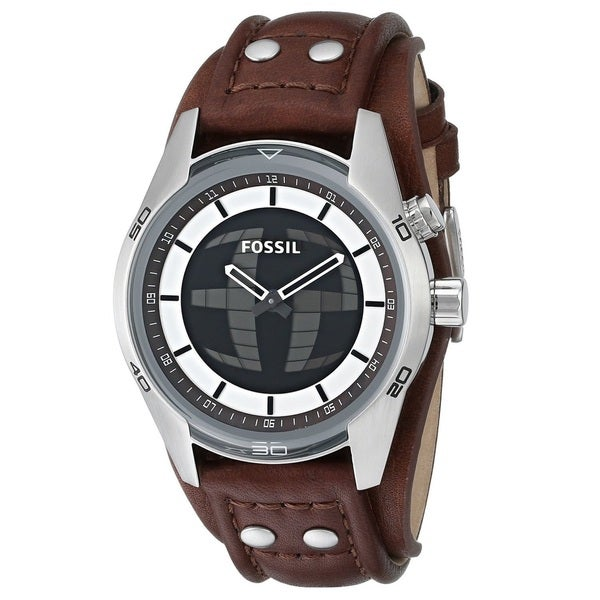 Fossil Men's JR1471 'Coachman' Digital/ Analog Leather Watch