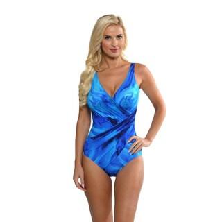 Miraclesuit Women's Blue Oceanus Swimsuit
