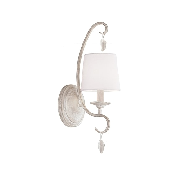 Caprice 1-light Chalk White Wall Bracket