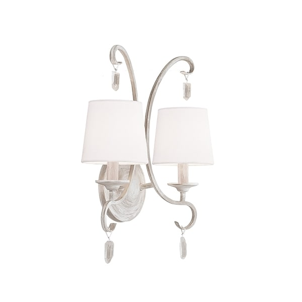 Caprice 2-light Chalk White Wall Bracket