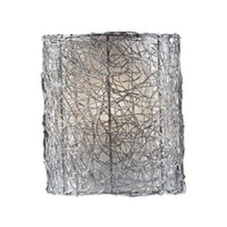 Wired Brushed Steel 1-light Wall Sconce