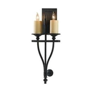 King's Table Antique Forged Iron 2-light Wall Sconce