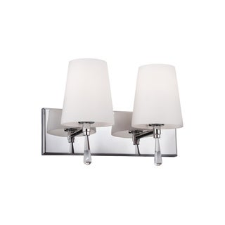 Murray Feiss Monica 2-light Chrome Vanity Strip Light