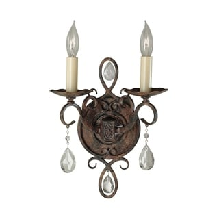 Murray Feiss Chateau 2-light Mocha Bronze Wall Sconce