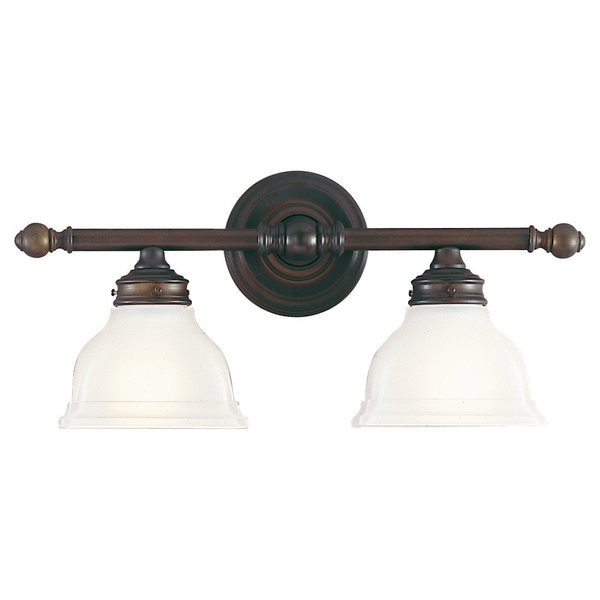 New London 2 Light Oil Rubbed Bronze Vanity Fixture 16849505