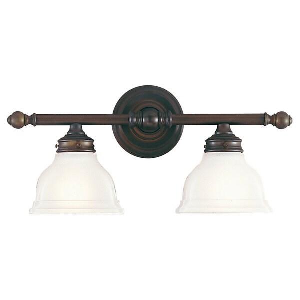 New London 2 Light Oil Rubbed Bronze Vanity Fixture 16849505