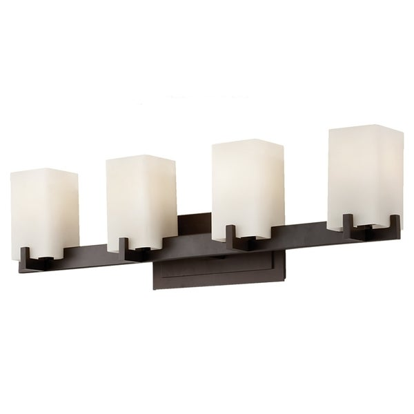 Riva Oil Rubbed Bronze 4 Light Vanity Fixture 16849619 Shop