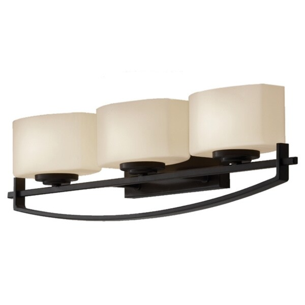 Bleeker Street Oil Rubbed Bronze 3 Light Vanity Fixture