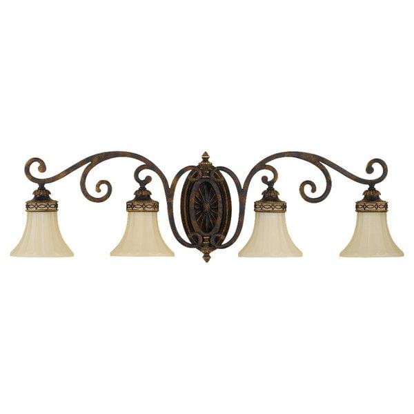 Vanity Light Walnut 4-light Vanity Fixture