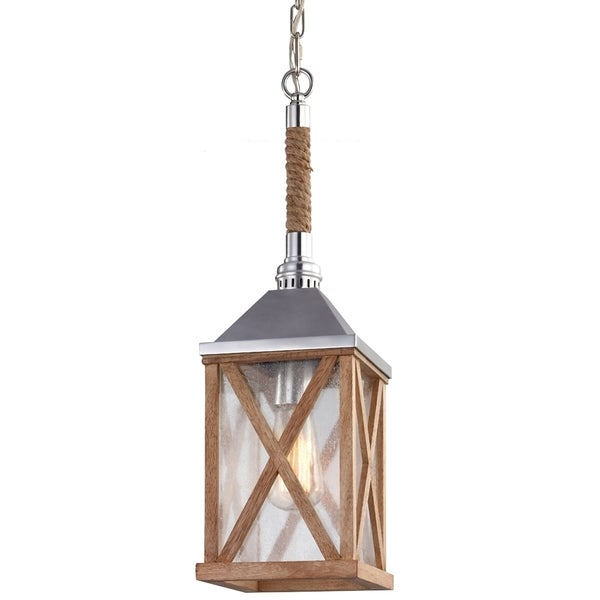 Lumiere Natural Oak 1-light Mini Pendant