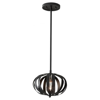 Textured Black 1-light Pendant