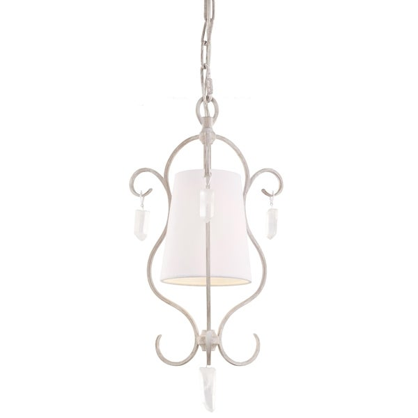 Caprice Mini Chalk Washed 1-light Pendant