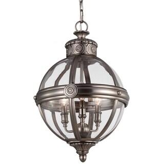 Adams Antique Nickel 3-light Pendant
