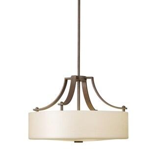 Uplight Chandelier Corthian Bronze 3-light Pendant