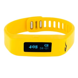 Everlast TR1 Yellow Wireless Sleep/ Fitness Activity Tracker Watch with LED Display
