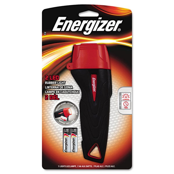 Energizer Large Rubber Flashlight (Two AA batteries included)