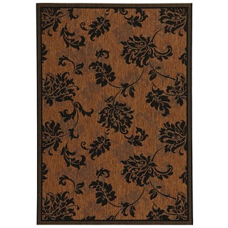 Loft Decor Floral Black Rug (5'3 x 7'4)