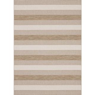 Loft Prime Striped Beige Rug (5'3 x 7'4)