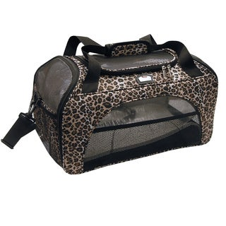 Gloria Vanderbilt Leopard Print Pet Duffel Travel Carrier