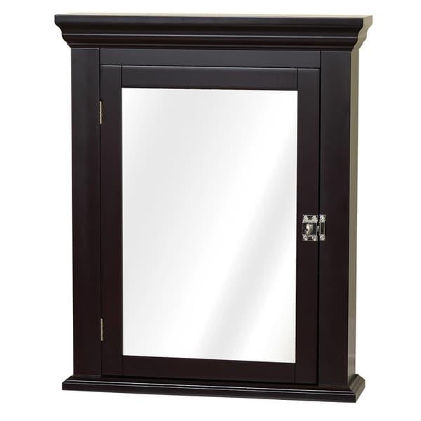 Espresso Colonial Mirrored Medicine Cabinet