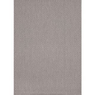 Loft Decor Squares Grey Rug (7'10 x 10')