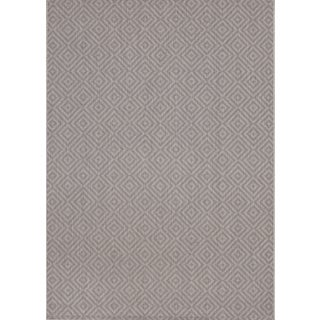 Loft Decor Squares Grey Rug (5'3 x 7'4)
